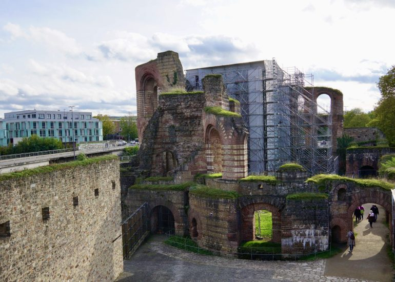 View of part of the Roman Baths in Trier