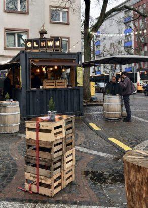 A Glühwein stand at Neubrunnenplatz