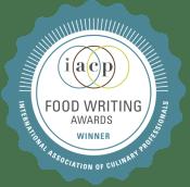 IACP Food Writing Awards winner badge