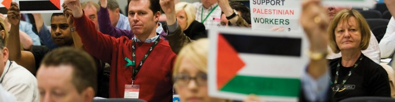Palestine solidarity has become increasingly visible in the UK trade union movement. ( Rod Leon )