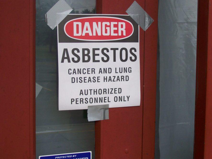 danger asbestos floor tiles