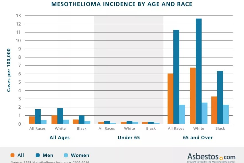 mesothelioma incidence trends by age, sex, occupation u0026 state
