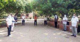 कंपनी बाग में चौधरी अजित सिंह को दी गई श्रद्धांजलि