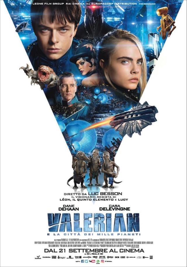 Valerian e la città dei mille pianeti poster locandina