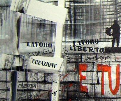 FAME - Mix on canvas - Detail - (Ascanio Cuba)