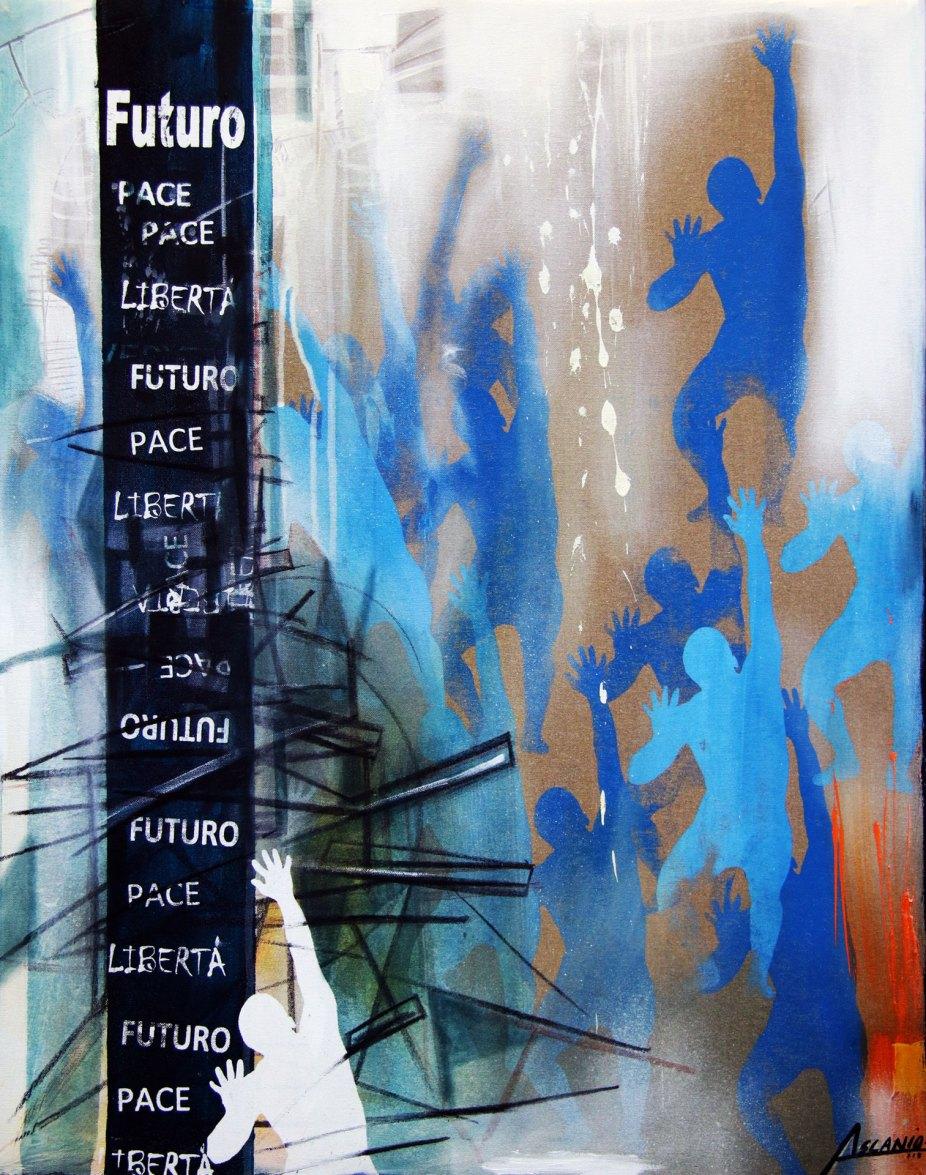 LUCE - Mix on canvas - (Ascanio Cuba)