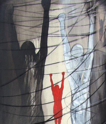 LUOGO COMUNE - Mix on canvas - Detail - (Ascanio Cuba)