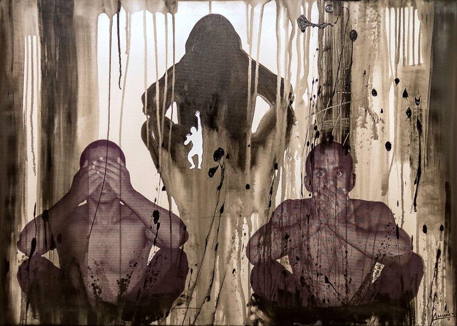 NON SENTO - Mix on canvas - (Ascanio Cuba)