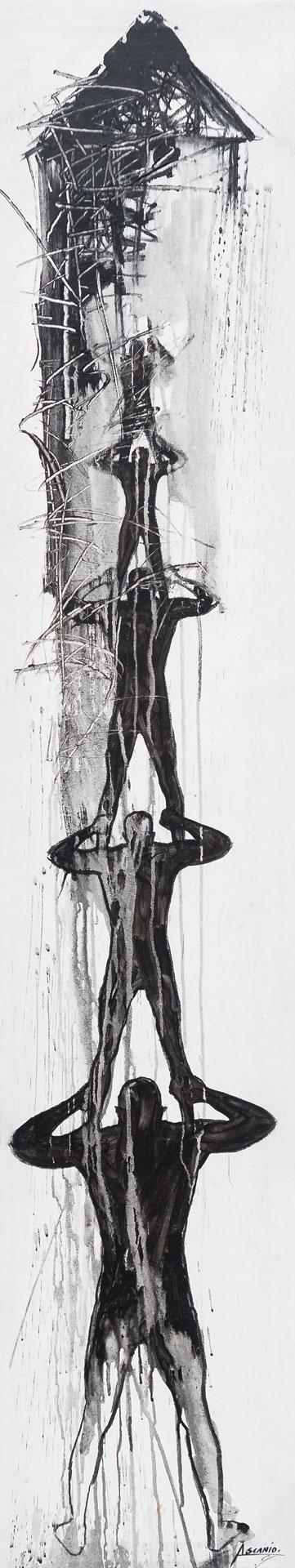 PLATFORM - Mix on canvas - (Ascanio Cuba)