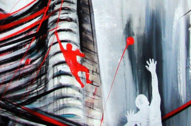 CITY DNA - Mix on canvas - (Ascanio Cuba)