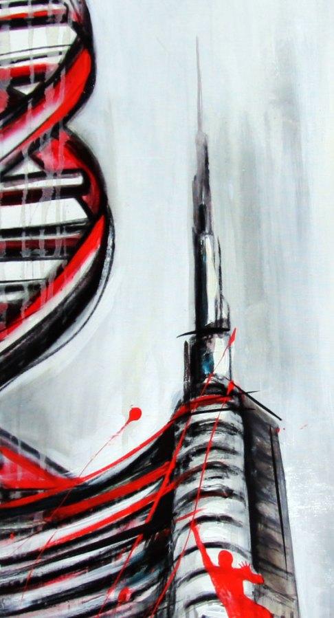 CITTà DNA - Mix on canvas - (Ascanio Cuba)