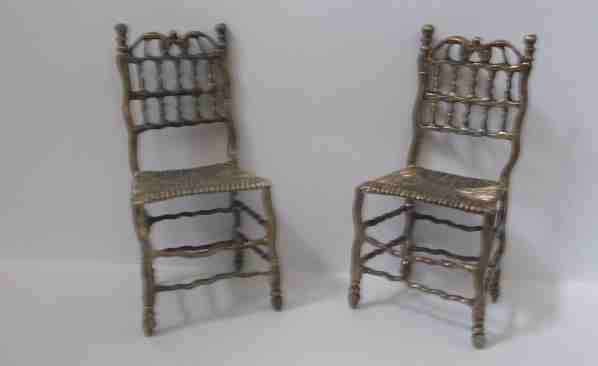 18th century Dutch, hand made silver chairs
