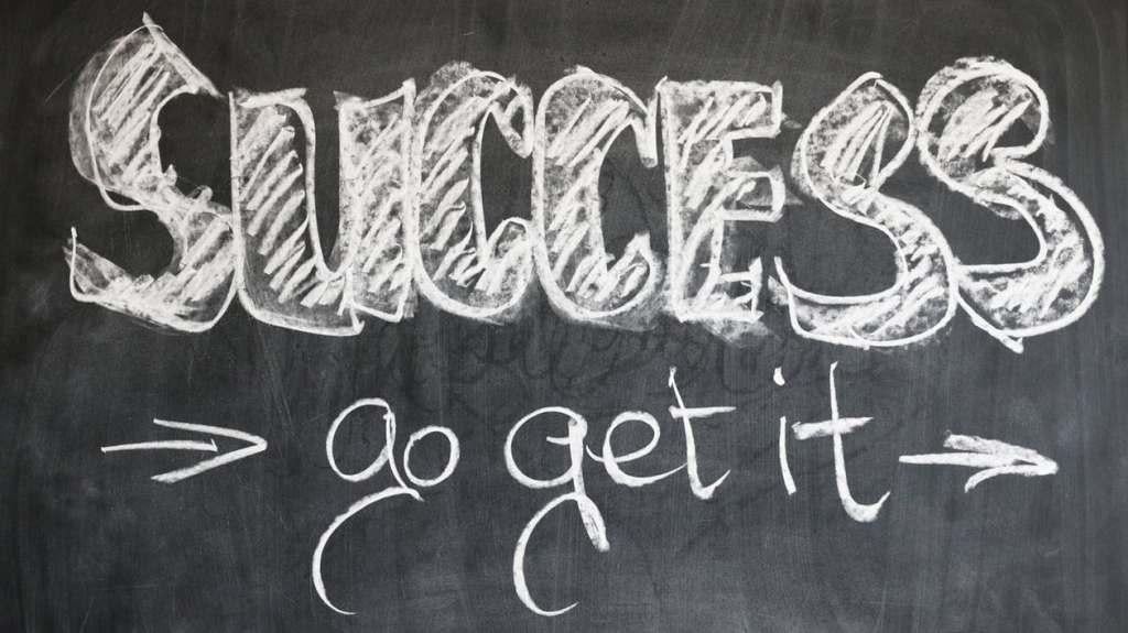 chalk board success go get it