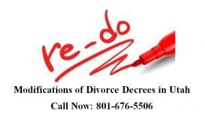 Modifications of Divorce Decrees in Utah