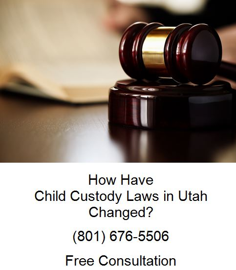 how have child custody laws in utah changed