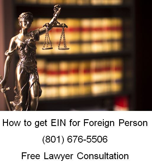 how to get EIN for foreign person