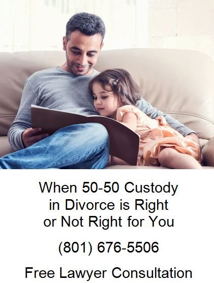 when 50-50 custody in divorce is right or not right for you