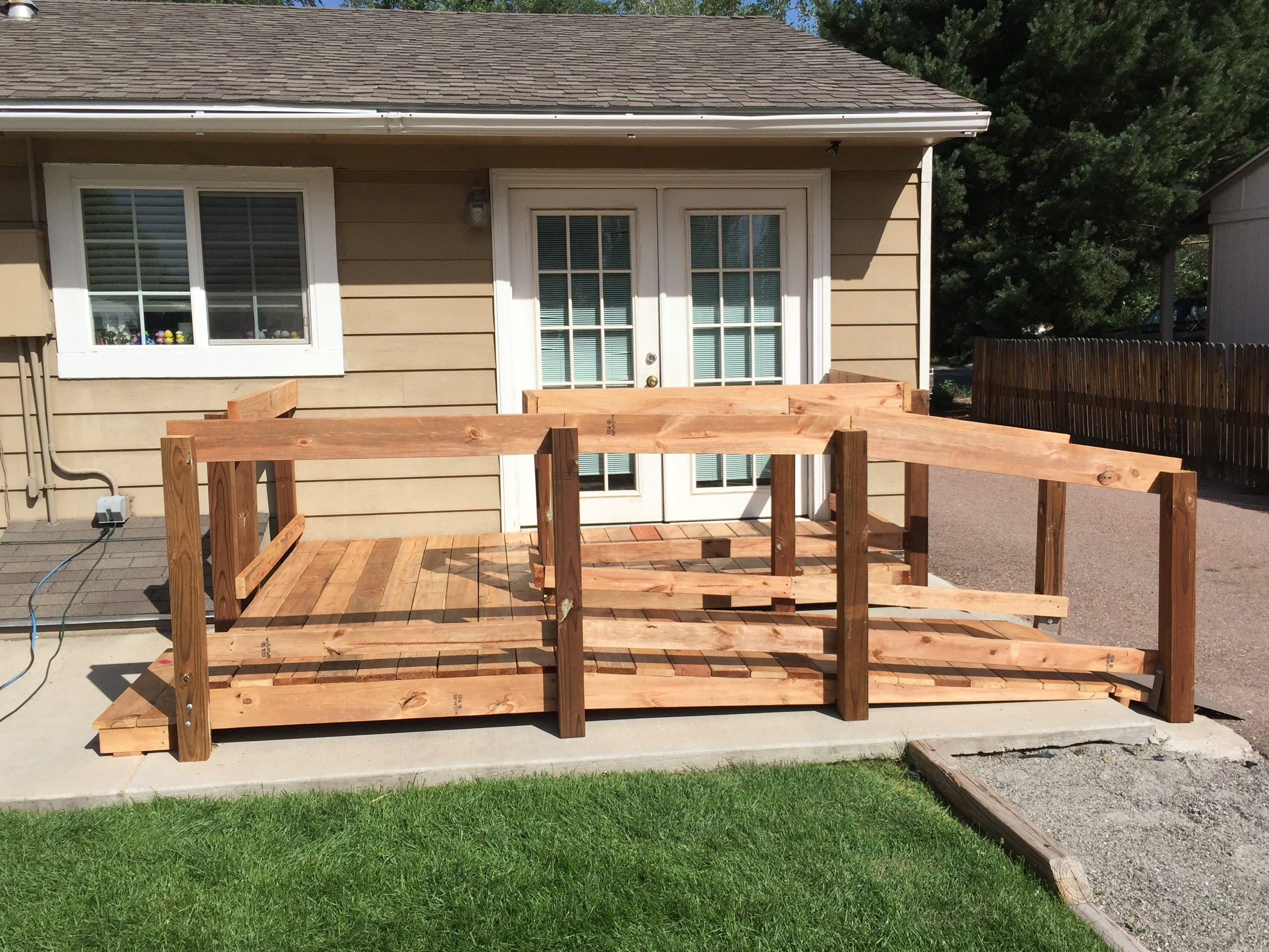 Wooden Wheelchair Ramp For Homes Ascent Mobility