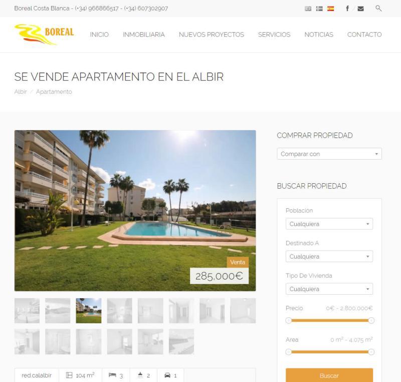 Web Boreal Costa Blanca