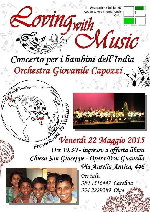 LOVING WITH MUSIC. CONCERTO PER I BAMBINI DELL'INDIA