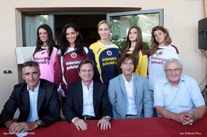 Campionato 2009/20010. Da sinistra: Claudio Foscarini, Andrea Gabrielli, Stefano Marchetti, Giancarlo Pavin