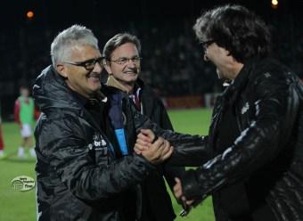 Venturato, Marchetti e Il Presidente Gabrielli gioiscono a fine gara