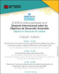 Evento dedicado al estudio, análisis, reflexión y debate sobre la Agenda Global de Desarrollo contenida en los Objetivos de Desarrollo Sostenible – 2030.