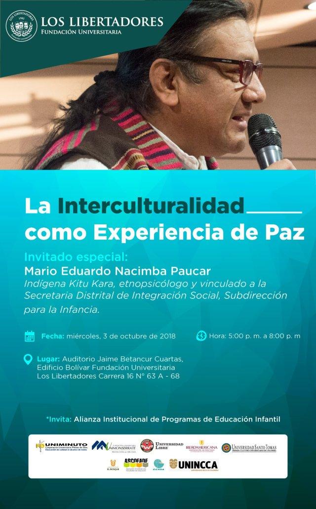La interculturalidad como experiencia de paz.-