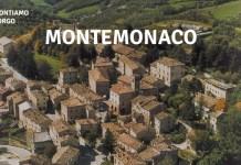 Una veduta storica di Montemonaco, in provincia di Ascoli