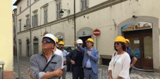 Claudia Regoli, Forza Italia, nei luoghi del terremoto