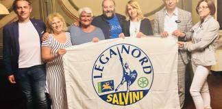 I militanti della nuova sezione della Lega di Ascoli Piceno, foto da Facebook