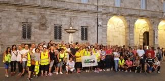 I partecipanti della tappa di salute in cammino ad Ascoli Piceno
