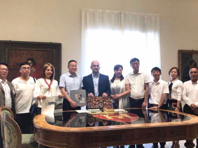 La delegazione cinese in visita ad Ascoli Piceno