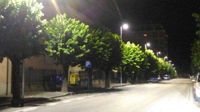 Nuova illuminazione a Comunanza, in provincia di Ascoli