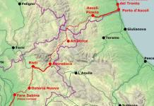 La linea ferroviara San Benedetto - Roma, foto da Facebook