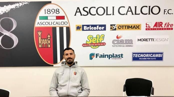 Salvatore D'Elia, foto da pagina Facebook ufficiale Ascoli Picchio