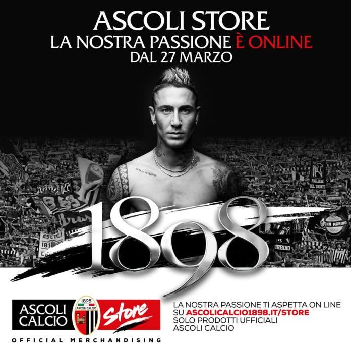 La pubblicità del nuovo Ascoli Store on line
