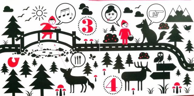 Cappuccetto rosso in pittogrammi sandro natalini