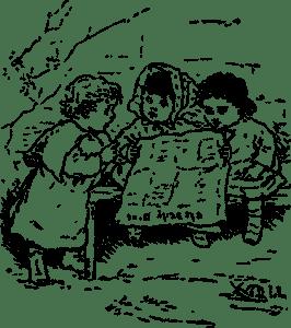 bambini che parlano di libri