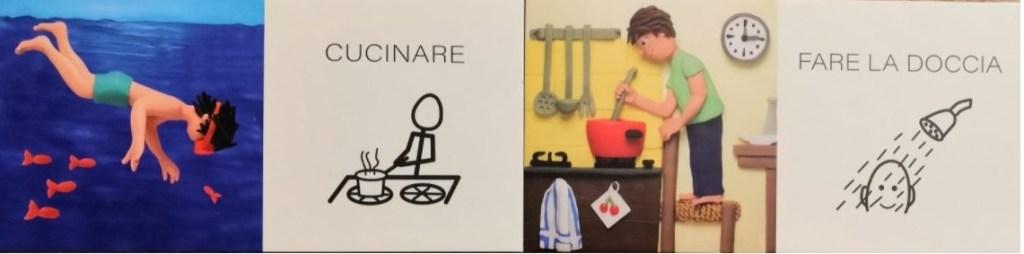 domino i verbi con i simboli CAA uovonero