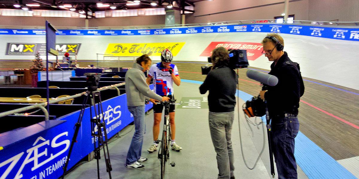 ASC Olympia - Werelduurrecord Baanwielrennen door Erik Dijkstra