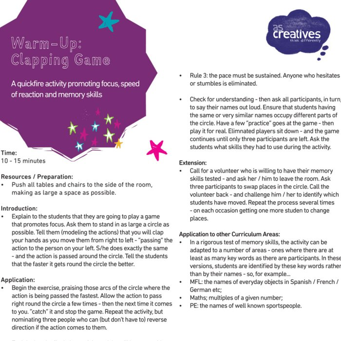 Teaching Resource: Clapping Game