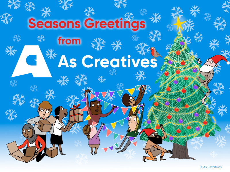 Season's Greetings for Christmas 2019 from As Creatives