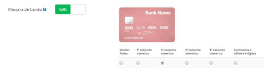 Máscara de cartão de crédito para atendente/supervisor