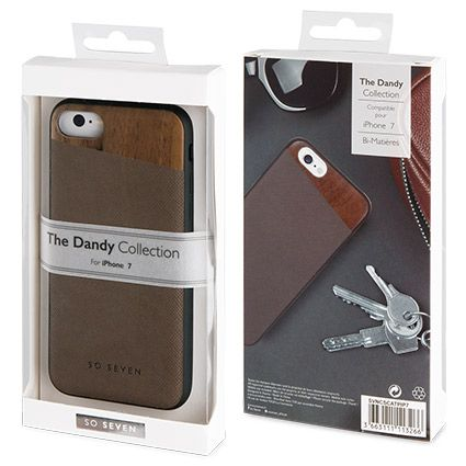 coque apple iphone 7 dandy bois taupe