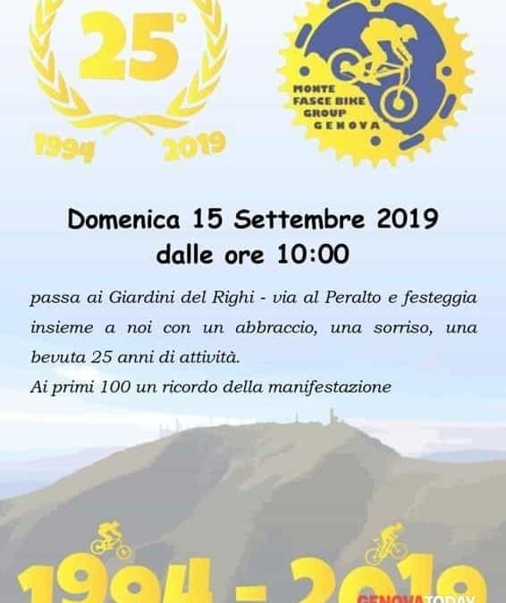 Il Monte Fasce Bike Group festeggia 25 anni di pedalate
