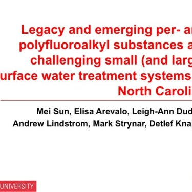 Legacy and Emerging PFAS Challenges Facing Small Surface Water Treatment Systems in