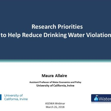 Research Priorities to Help Reduce Drinking Water Violations