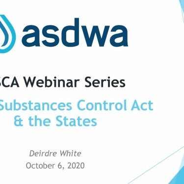 TSCA Webinar Series TSCA and the States (Webinar Three)