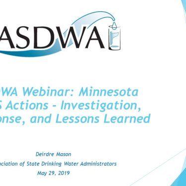 Minnesota PFAS Actions: Investigation, Response, and Lessons Learned